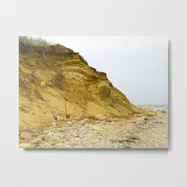 Montauk Beach Sand Dune Metal Print