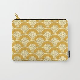 Yellow Mustard Sunshine Abstract Arch Modern Wave Spring Summer Carry-All Pouch
