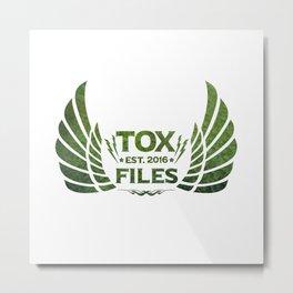 Tox Files - Green on White Metal Print