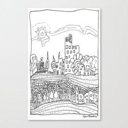 Ciudad de mis amores. Canvas Print