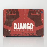 quentin tarantino iPad Cases featuring Django Unchained -  Quentin Tarantino Minimal Movie Poster by Stefanoreves