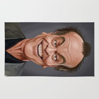 jack nicholson Area & Throw Rugs featuring Celebrity Sunday ~ Jack Nicholson by rob art | illustration
