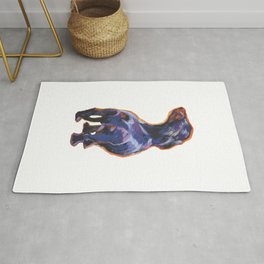 DACHSHUND Dog doxie portrait bright colorful Pop Art Painting by LEA Rug