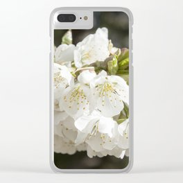 White Flowers Photography Print Clear iPhone Case