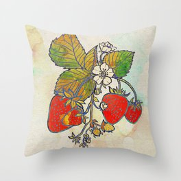 Spread Like Strawberries Throw Pillow