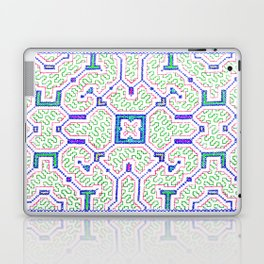 The Song to Support Spiritual Growth - Traditional Shipibo Art - Indigenous Ayahuasca Patterns Laptop & iPad Skin