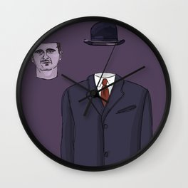 """""""The Unwanted Pilgrim"""" (Syria) Wall Clock"""