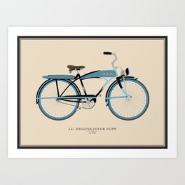 Vintage J.C. Higgins Bike Art Print