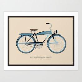 Vintage J.C. Higgins Bike Art Print