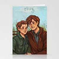 fault in our stars Stationery Cards featuring The Fault in Our Stars  by Beverly Johnson