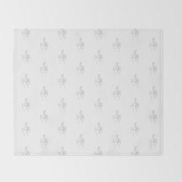 Fingers crossed. Minimal hand line drawing Throw Blanket