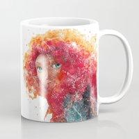 merida Mugs featuring Brave Merida Disneys by Carma Zoe