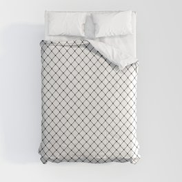 GRID, White and Black Classic Diagonal Grid Comforters