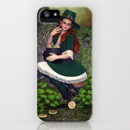 Leprechaun Lass iPhone Case