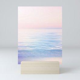 Dreamy Pastel Seascape 2. Blue & Nude #pastelvibes #Society6 Mini Art Print