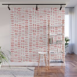 Abstract rectangles - dusty pink Wall Mural