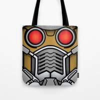 star lord Tote Bags featuring Star Lord by Ryan the Foe