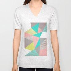 Geometric Pastel Unisex V-Neck
