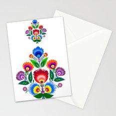 folk flowers ornament  Stationery Cards