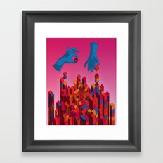 Solution for Blocks Framed Art Print