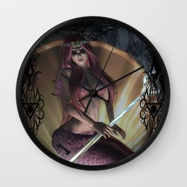 Lost World- Sirena's Primal Power Wall Clock