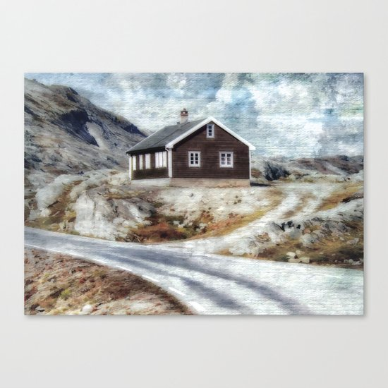 House On Dalsnibba Road Canvas Print