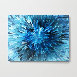Extended Rectangles - Blue Metal Print
