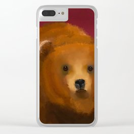 Color Pop Bear Clear iPhone Case