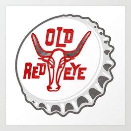 Vintage Old Red Eye Soda Pop Bottle Cap Art Print