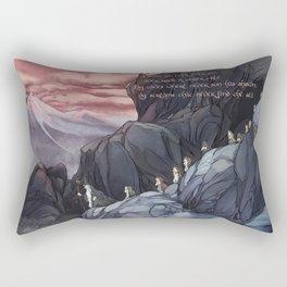 Roads go Ever Ever On Rectangular Pillow