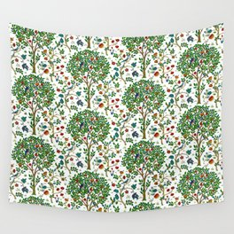 William Morris Tree of Life Pattern, Green & Multi Wall Tapestry