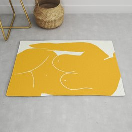 Nude in yellow 2 Rug