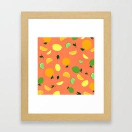 Citrus party Framed Art Print