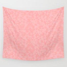 Pastel Millennial Pink Geometric Pattern Wall Tapestry
