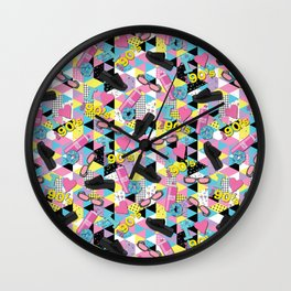 90's Fashion Memphis Design Wall Clock