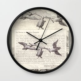 Fable of the Ducks and the Turtle Queen Wall Clock