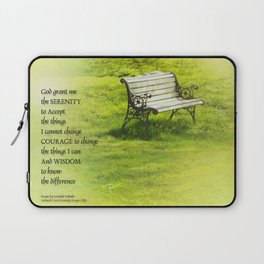 Serenity Prayer Bench Laptop Sleeve