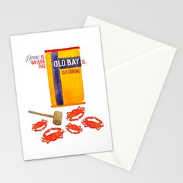 Home is where the Old Bay is. Stationery Cards