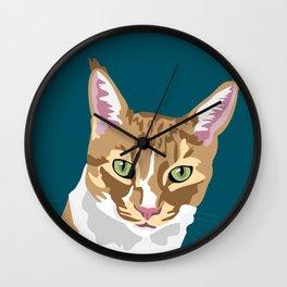 Milo the cat Wall Clock