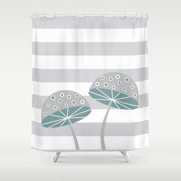 Romantic mushrooms Shower Curtain