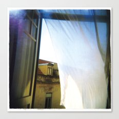 beyond the curtain Canvas Print