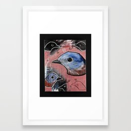 Blue Bird with no shoulders Framed Art Print