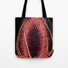 Red Teasel Tote Bag