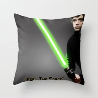 "luke hemmings Throw Pillows featuring ""Luke"" by KL Design Solutions"