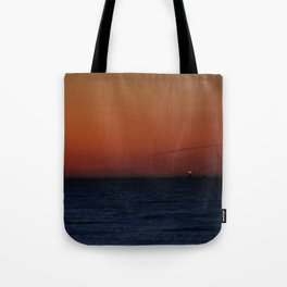 Lonely lighthouse at Dungeness Spit, WA Tote Bag