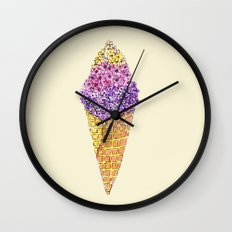 Natural Ice Cream  Wall Clock