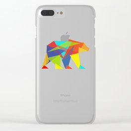 Fractal Geometric bear Clear iPhone Case