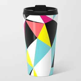 Colorful bright geometrical triangles print Travel Mug