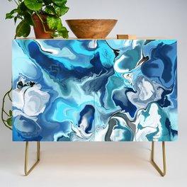 Blue marble Credenza