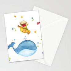 Baby whale Stationery Cards